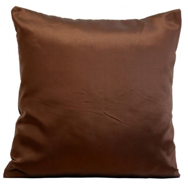 Luxusní povlak na polštář čokoládově hnědé barvy