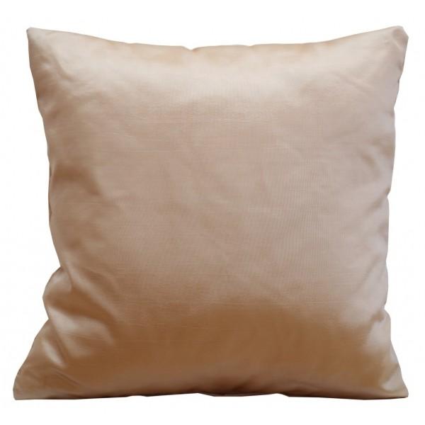 Saténové návleky na polštář kakaově béžové barvy