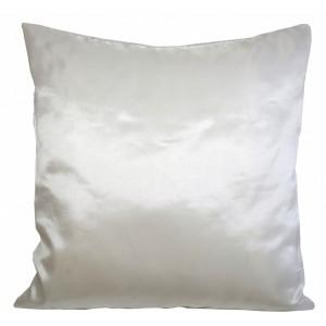Lesklý krémový dekorační povlak na polštář