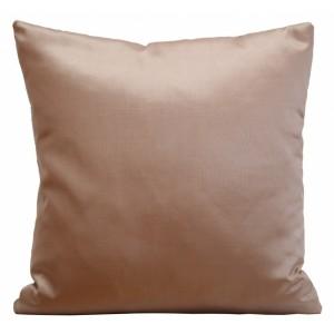 Lesklé saténové povlaky na polštář kakaově béžové barvy