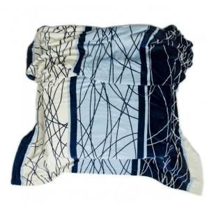 Teplá modrá deka s proužky