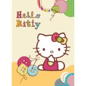 Krémová dětská deka Hello Kitty