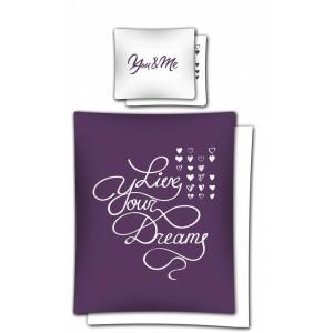 Romantické ložní povlečení z bavlny fialové barvy