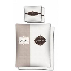 Valentýnské ložní povlečení z bavlny hnědé barvy 160x200