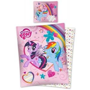 Růžové dětské ložní s motivem pohádky Little Pony