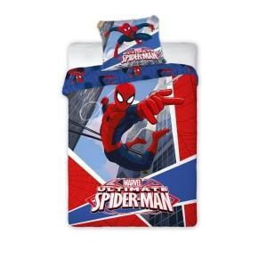 Červené ložní povlečení pro chlapce s motivem Spiderman