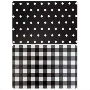 Oboustranné prostírání na stůl v černé barvě