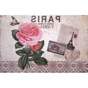 Béžové prostírání na stůl s motivem růže