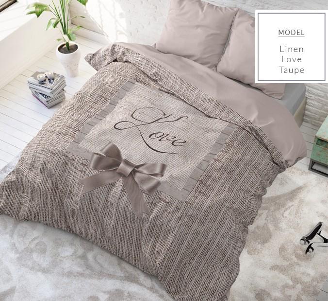 Kvalitní béžové povlečení z bavlny 200 x 200 cm