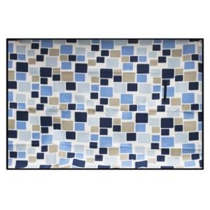 Barevné piknikové deky s motivem modrých kostek