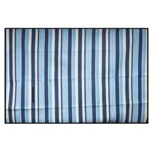 Pikniková deka s modrými pruhy