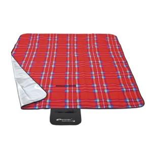 Kostkovaná pikniková deka červené barvy