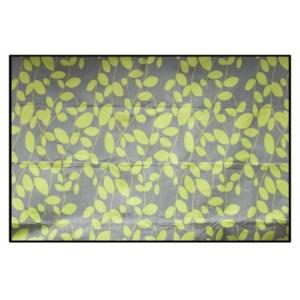 Piknikové deky zelené barvy s motivem listí