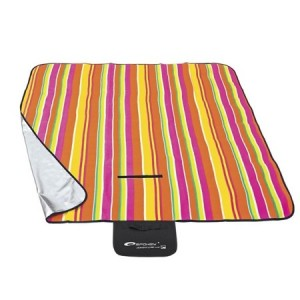 Pikniková deka s barevnými pásy 130x150cm