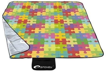 Pikniková deka s barevným motivem puzzle