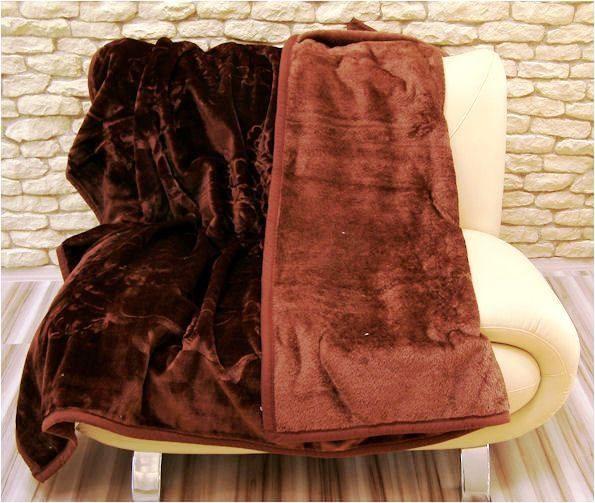 Deky na postele čokoládově hnědé barvy