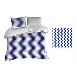 Luxusní povlečení modro bílé barvy bavlněné