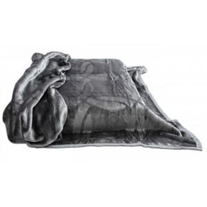 Šedá deka španělská hřejivá