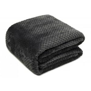 Plédy a deky tmavě šedé barvy