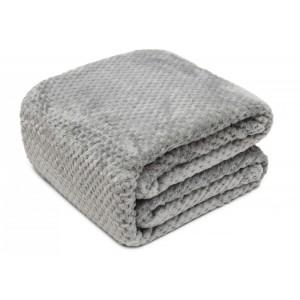 Denní deka na postel v šedé barvě