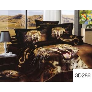Tmavohnědé ložní prádlo s motivem geparda