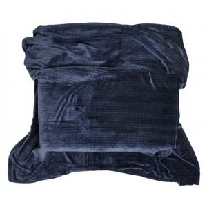 Přehozy a deky tmavě modré barvy