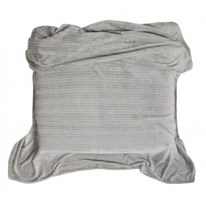 Hřejivá deka k televizi šedé barvy