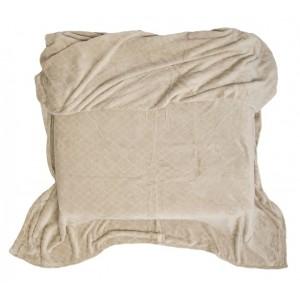 Béžová deka na postel