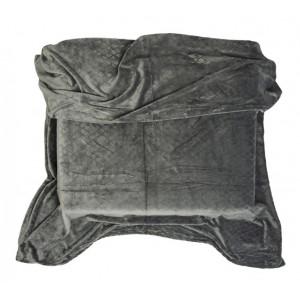 Tmavě šedá deka z mikrovlákna