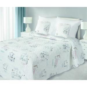 Přehozy na postel krémové barvy s obrázky