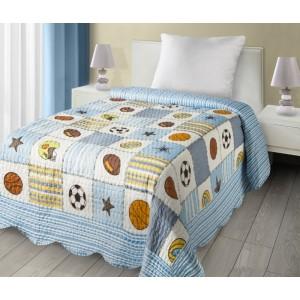 Chlapecký přehoz na postel se sportovním motivem