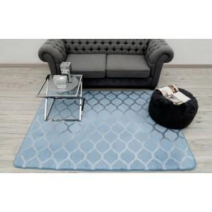Kusové koberce modré barvy do obýváku