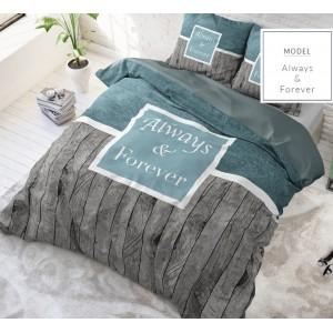 200x220 francouzské povlečení šedej farby z bavlny