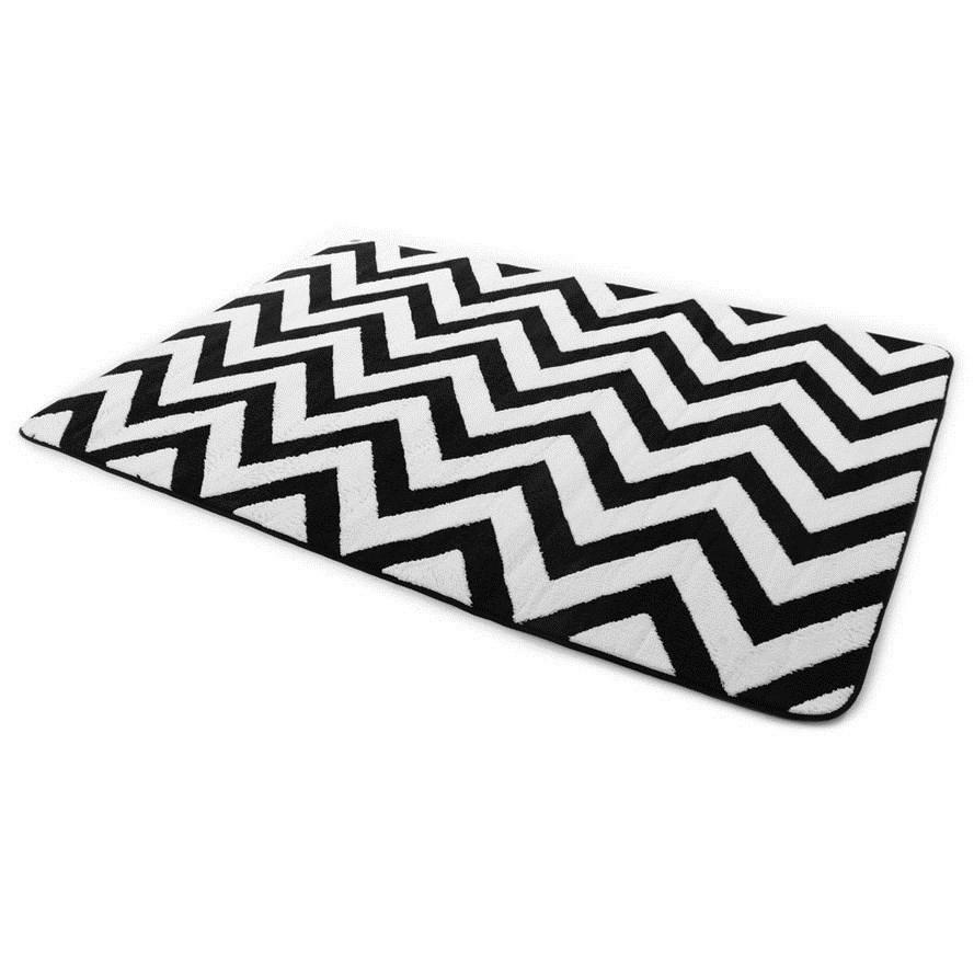 Kusové koberce černo bílé barvy 200 x 300 cm