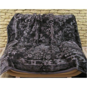 Hrubé luxusní deky černé barvy