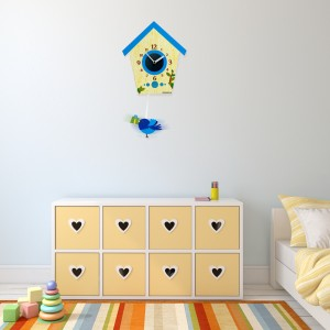 Nástěnné hodiny do dětského pokoje s kyvadlem
