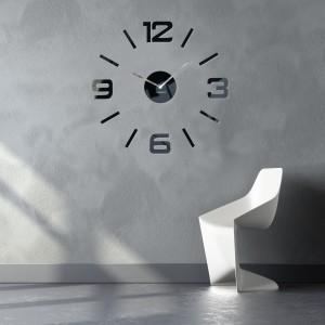 Luxusní nástěnné hodiny černé