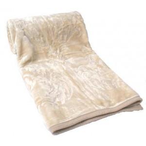 Deky na postele z akrylu béžové barvy