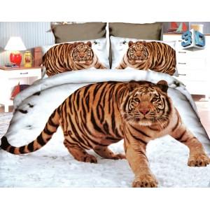 Povlečení mikrovlákno s 3D obrázkem tygra