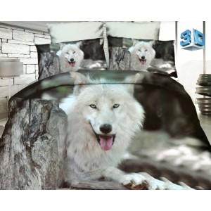 Ložní povlečení z mikrovlákna se psem