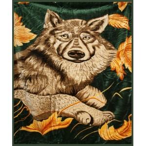 Levné deky jako přehoz v zelené barvě
