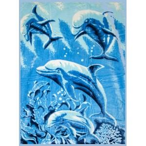 Luxusní španělské deky s delfíny