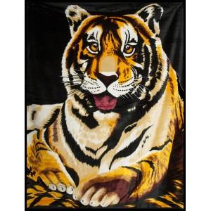 Hnědá deka tygr