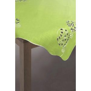 Zelený ubrus s velikonočním motivem