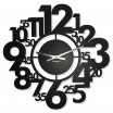 Kovové nástěnné hodiny černé