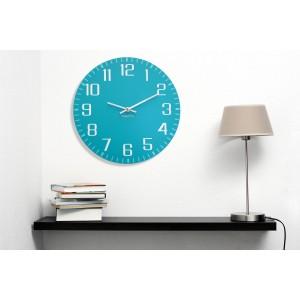 Originální nástěnné hodiny tichý chod tyrkysové