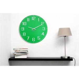 Zelené nástěnné hodiny designové