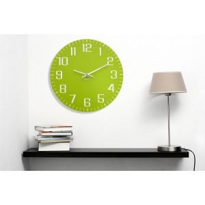 Zelené nástěnné hodiny pro děti