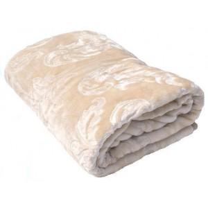 Luxusní deky z akrylu 160 x 210cm bežová č.6