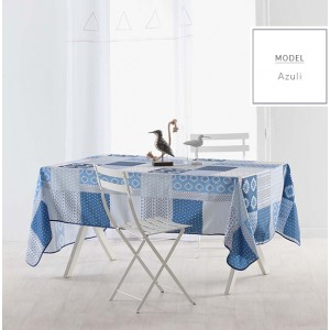 Ubrusy modré barvy s moderním motivem